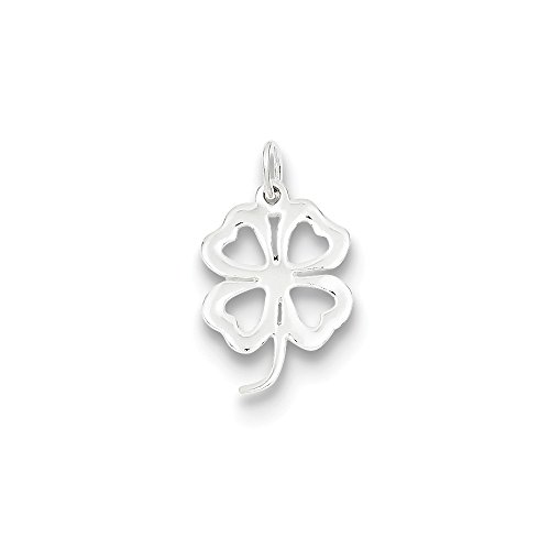 Sterling Silver Cut Out 4 Leaf Clover -
