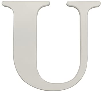 Amazon.com : Kids Line White Wooden Letter, U (Discontinued by ...