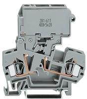 (WAGO 281-623/281-541 Fuse Disconnect Terminal Block, Pivot Holder, 15-30V, LED Indicator)