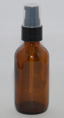 All4u 1 Oz Amber Boston Round Glass Bottle with Fine Mist Sprayer 12/bx+1 Free Clear Pipette
