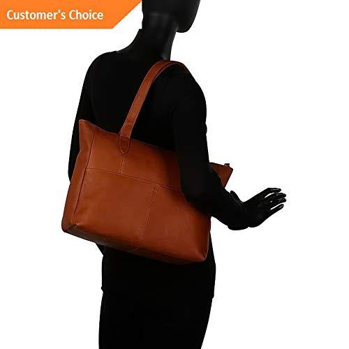 Sandover Le Donne Leather Delilah Slip Tote 4 Colors   Model LGGG - 7632 ()