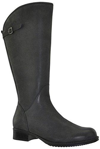 JJ Footwear Kreta XL Bottes en cuir pour femme Asphalt Cow Grain