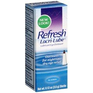 Refresh Lacri-Lube Lubricant Eye Ointment Net Wt. 3.5Gram 0.12 Ounces (1 Tube)