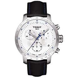 TRC PRC200 White Dial Stainless Steel Leather Quartz Men's Watch T0554171601100