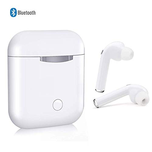 Wireless Earbuds Bluetooth Headphones in-Ear Headphones Noise Canceling 3D Stereo IPX5 Waterproof Sports Headset Dual HD Microphones Pop-ups Auto Pairing for iPhone Android Apple Airpods Earbud-bn