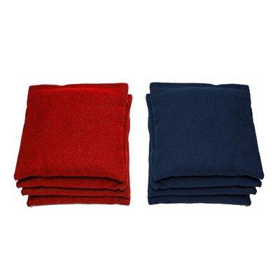 AJJ Cornhole - Cornhole Bags - Set of 8 - Red/Navy from AJJ Cornhole