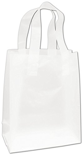 Egp Clear Frosted High Density Flex Loop Shoppers  8 X 4 X 10