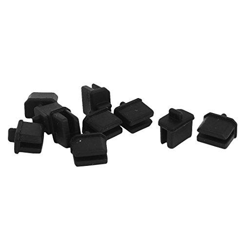 uxcell Anti Dust Cap Protector 10 Pcs Black for Mini Displayport Thunderbolt