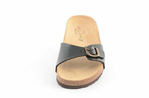 Sandalen aus Naturkork Herren Unita Clare Tinta Anatomischen Le Fußbett Pretty Schwarz mit pTXqg7