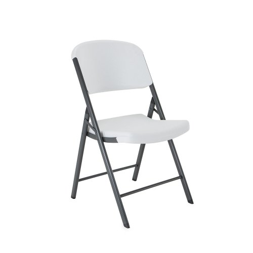Lifetime 42804 Folding Chair, White Granite, Pack of 4