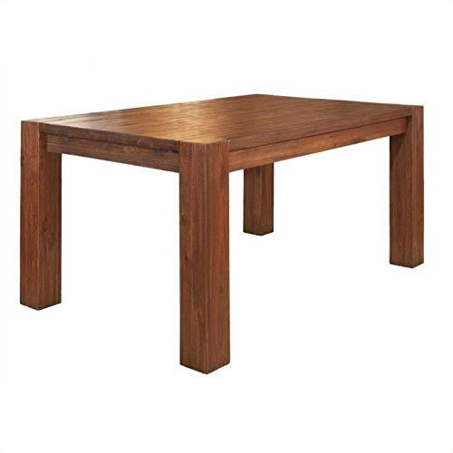 - Modus Furniture 3F4161 Meadow Solid Wood Extending Dining Table, Brick Brown