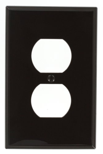 Leviton PJ8 1-Gang Duplex Receptacle Wallplate, Midway Size, - Outlet Midway