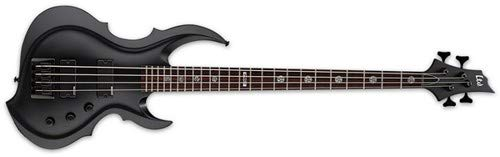 Bass Guitar Black Satin - ESP LTD TA-204 FRX Signature Series Tom Araya Bass Guitar, Black Satin