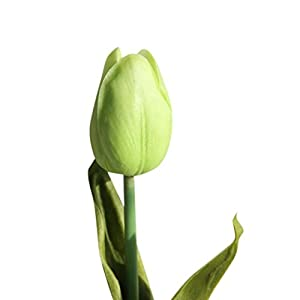 Bowake Artificial Tulip, 5 pcs Holland Tulips Flowers with Latex-Look Like Real Eco-Friendly Odourless Artificial Flowers 93