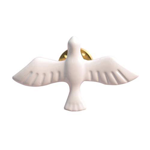 [해외]Toporchid 문학 신선한 레트로 흰색 비둘기 평화 비둘기 브 로치 브 로치 남성과 여성 기장 목걸이 / Toporchid Literature Fresh Retro White Dove Peace Dove Brooch Brooch Men`s and Women`s Badge Collar