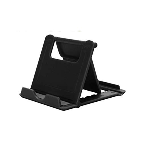 Universal Adjustable Mobile Phone Holder Stand Desk Tablet Foldable Portable (Black)