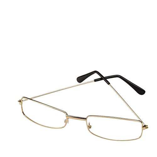Rectangular Wire Rim Glasses Costume - Wire Glasses