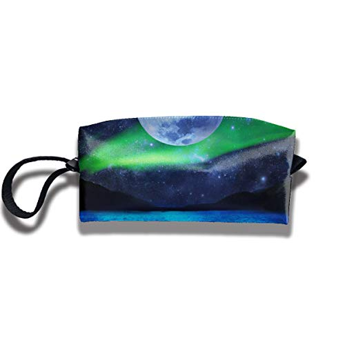 Kla Ju Portable Pencil Bag Cosmetic Pouch Aurora Fantasy Stationery Purse Storage Organizer]()