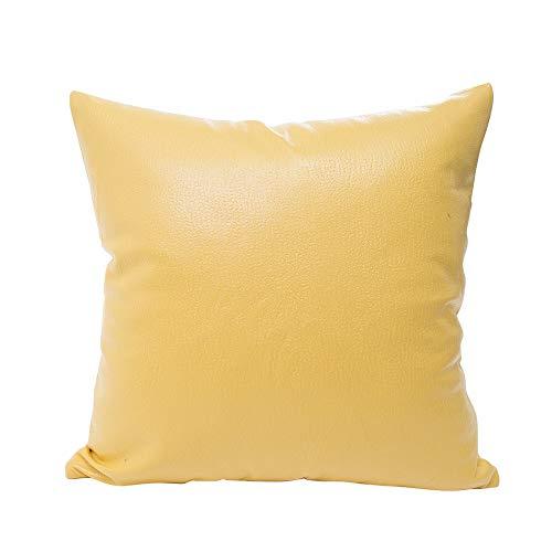 Alimao Imitation Leather Sofa Waist Throw Cushion Cover Home Decor Cushion Cover Case