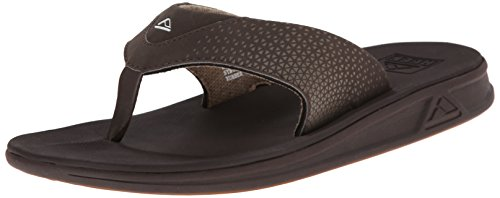 Action Leather Footwear - Reef Men's Rover Flip Flop, Brown, 5 M US