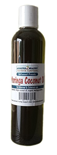 Moringa Coconut Oil 8 oz. - Superfood Infusion: Nutrients, Healthy Fat, Antioxidants...Internal & External Use