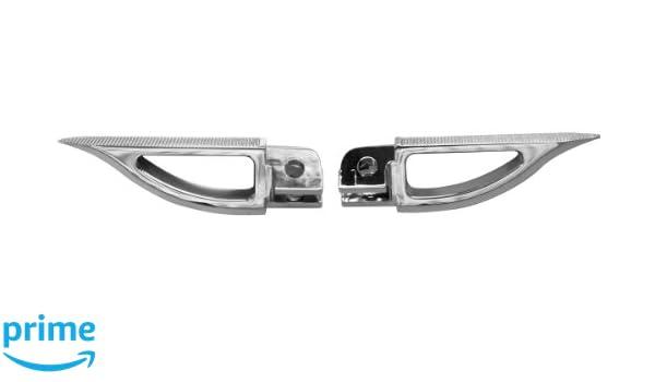 Yana Shiki A4289 Silver Rear Blade Style Foot Pegs for Suzuki GSX-R//B-King Motorcycles