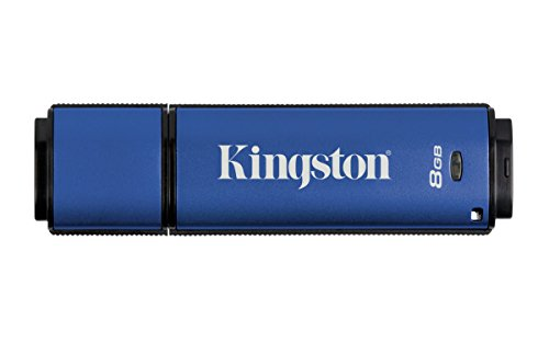 Kingston Digital 8GB Data Traveler AES Encrypted Vault Privacy 256Bit 3.0 USB Flash Drive (DTVP30/8GB) (Best Encrypted Thumb Drive)