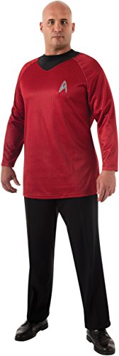 Rubie's Plus-Size Star Trek Into Darkness Deluxe Scotty Shirt With Emblem, Red/Black, Plus Costume ()