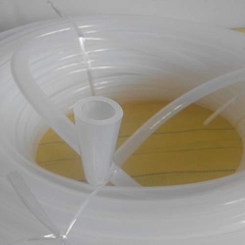 SNOWINSPRING Tube En Silicone 8 Mm Id X 10 Mm Od 8,2 Pieds Tuyau Flexible En Silicone pour Tuyaux DAir et DEau Translucide Tuyau pour Le Transfert De Pompe