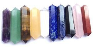 CRYSTALMIRACLE Beautiful 100 Assorted Double Terminated Crystal Points  Wholesale