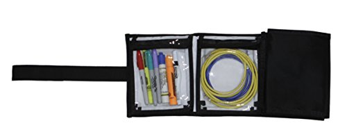 Portable Tool & Cable Organizer Wallet with 6 clear 6 x 7 pockets for tools, cables, photo accessories