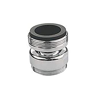 Pack of 6 Pack of 6 Neoperl 15 3460 8 Faucet Adapter Female 55//64-27 Top Threads Male 3//4 Hose Bottom Threads Female 55//64-27 Top Threads Chrome Finish Solid Brass Male 3//4 Hose Bottom Threads