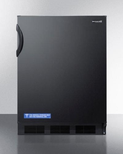 (Summit Appliances CT66B Deluxe Under-Counter Refrigerator-Freezer - Black)