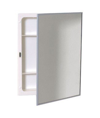 Zenith Products X311 Stainless Steel Frame Swing Door Medicine Cabinet, Surface or Recess Mount, 16.13'' x 20.13'' x 4'' by Zenith Products