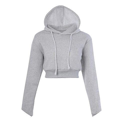 6 Colors Spring Women Long Sleeve Cropped Hoodie Sweatshirt Girls Loose Hooded H