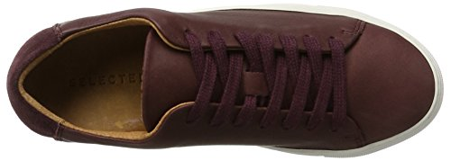 Ginnastica Selected Donna vineyard Washed Da Sfdonna Sneaker Femme Leather Basse Wine Scarpe Multicolore BRBO60wq