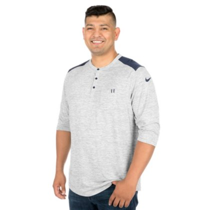 86f1cbbf4 Image Unavailable. Image not available for. Color: Dallas Cowboys Nike 3QT Henley  Top