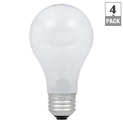 EcoSmart 75W Equivalent Eco-Incandescent A19 Soft White Dimmable Light Bulb (4-Pack)