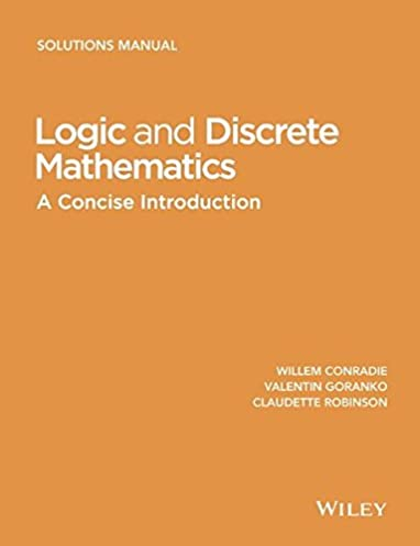 logic and discrete mathematics a concise introduction solutions rh amazon com Physics Solutions Manual Chegg Solution Manual