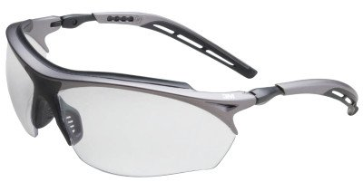 Maxim Wrap Around - 3M Maxim 14246-00000-20 Clear Black/Metallic Gray Polycarbonate Standard Safety Glasses - 99.9 % UV Protection - Wrap Around Frame - 70071561594 [PRICE is per EACH]