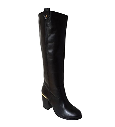 Size Black 6 Top Boots On 8 Shoes Brand Leather 5 3 7 Knee Cowboy Boot Heel Pull Long Womens High Riding Designer Block Ladies 4 UqBwrUO