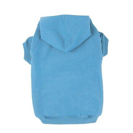 BINGPET Blank Basic Cotton/Polyester Pet Dog Sweatshirt Hoodie BA1002, Blue Extra large