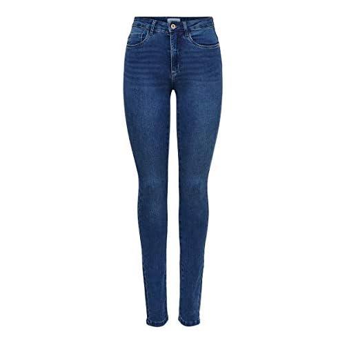 chollos oferta descuentos barato ONLY Onlroyal High Waist Skinny Jeans Vaqueros Medium Blue Denim 34W 30L para Mujer