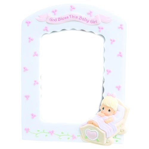 Precious Moments God Bless This Baby Girl 3.5 x 5 Resin Photo Frame