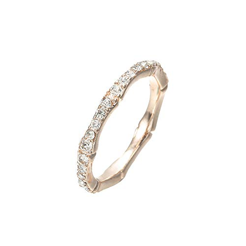 HHBack Eternity Ring Set Beautiful Women Engagement Rings Wedding Marriage Anniversary Love Synthetic Imple Diamond A Small Zircon Couple Gift