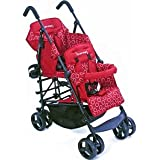Kinderwagon RED Hop Double Child Stroller w/ Canopy