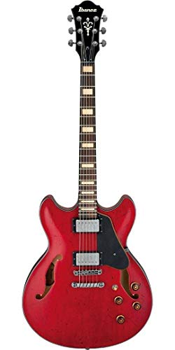 Ibanez Artcore Vintage Series ASV10A Semi-Hollowbody Electric Guitar Transparent Cherry Red Low Gloss