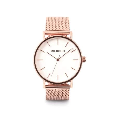Reloj Cadete Metallic Copper Esf.Blanca Armis Rosado 36 Mm. Mr Boho