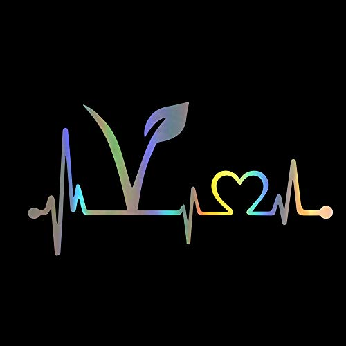 vylymuses Car Stickers and Decals Vegan Heartbeat Lifeline Stickers for Car Bumper Stickers On Car Styling 7.99
