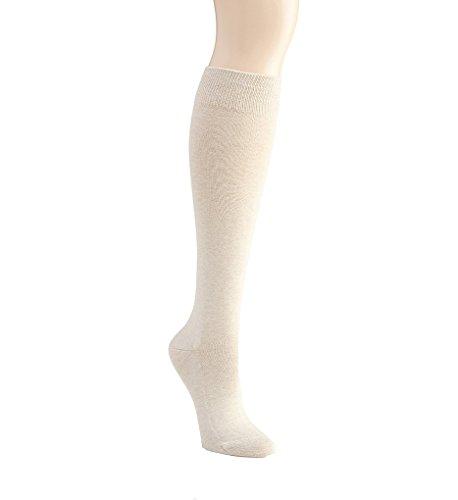 Falke Family Cotton Knee High Socks (47645) M/L/Sand Melange -